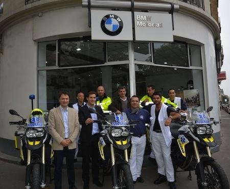 BMW Motorrad en partenariat avec le SAMU 92 de Garches