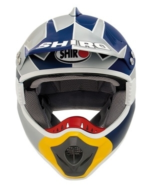 Casque cross : replica Barragan chez Shiro