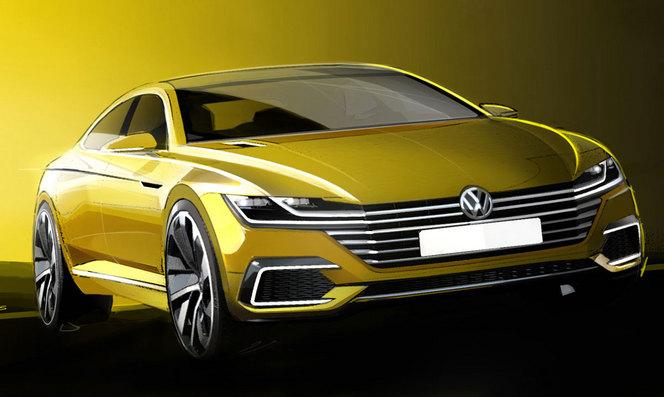 Salon de Genève 2015 - VW annonce la CC via un concept Sport Coupé GTE