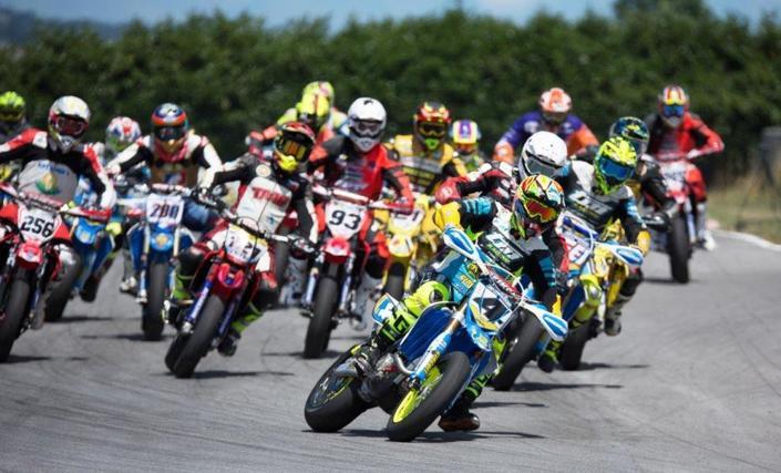 Championnat d'Europe Supermotard 2017, Busca: Chareyre sans forcer