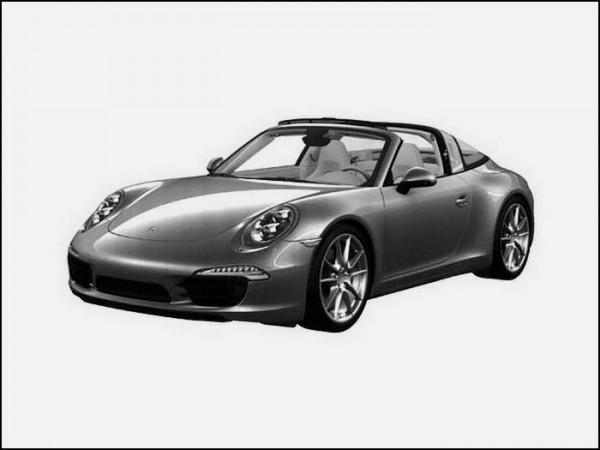 La future Porsche 911 Targa en fuite