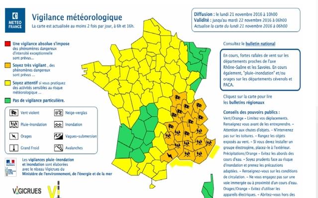 Alerte météo : 19 département en vigilance orange