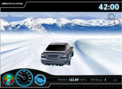 AMG Drift Revolution Winter Challenge : faites du drift en Mercedes CLK63 Black Series by AMG