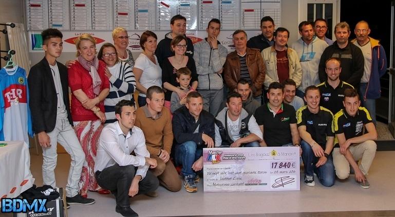 """Master MX Tour : 17 840 € récoltés pour l'association """"Les Bagouz' à Manon"""""""