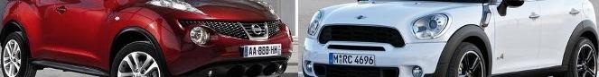 Match du Mondial : Mini Countryman ou Nissan Juke ?