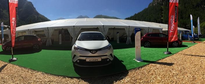 Le stand Toyota - Vidéo en direct du Salon de Val d'Isère 2017