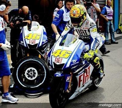 Moto GP - Grande Bretagne: Rossi pas très content de lui