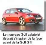 Exclusivité : Caradisiac vous dévoile   la future Golf Cabriolet