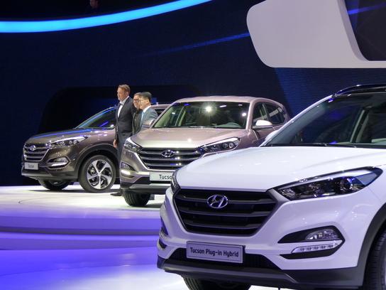 Hyundai Tucson : capital –  Vidéo en direct du salon de Genève 2015
