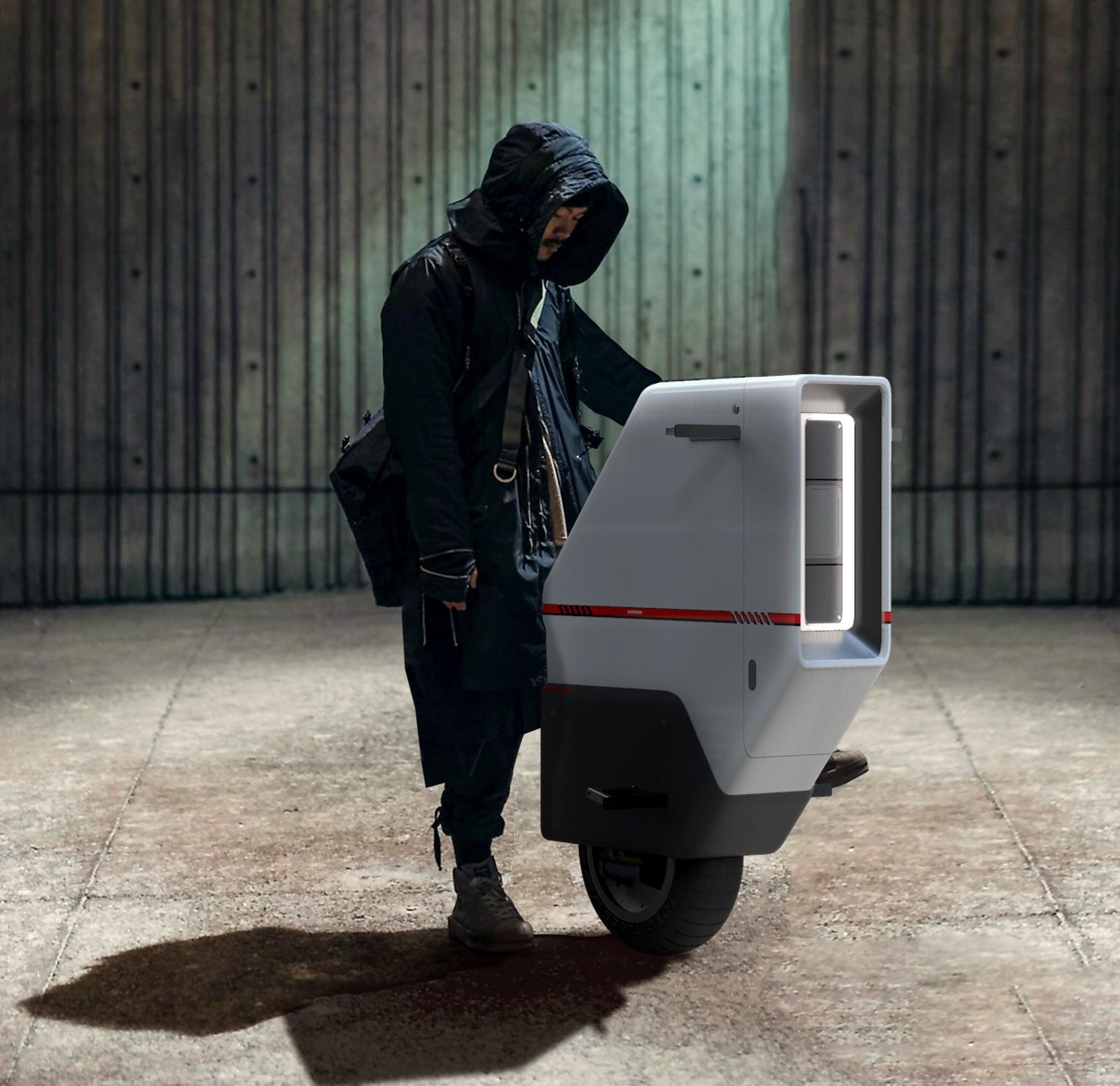 Honda Baiku : le scooter électrique façon monoroue