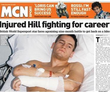 Supersport: Le combat de Tommy Hill sera long