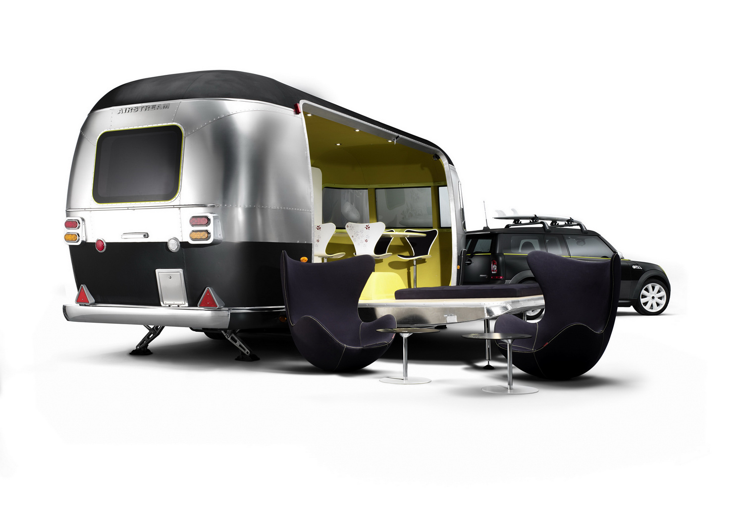 camping branchouille en mini clubman et caravane airstream. Black Bedroom Furniture Sets. Home Design Ideas