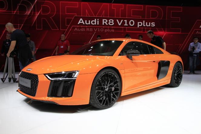Audi R8 V10 : Huracan sister - Vidéo en direct du salon de Genève 2015
