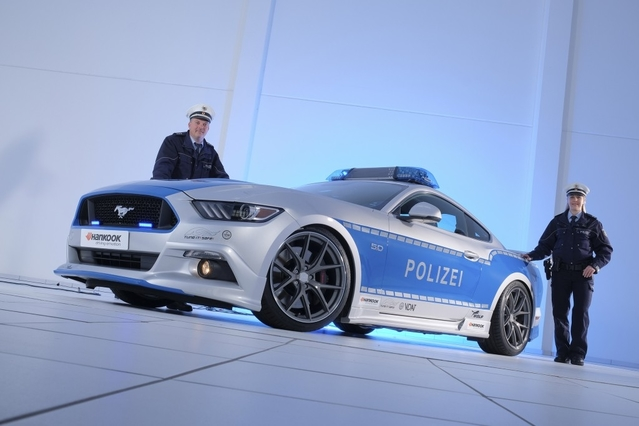 La police allemande roule en Ford Mustang