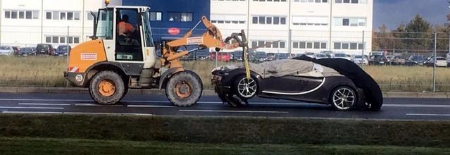 Bugatti : la première Chiron au tas