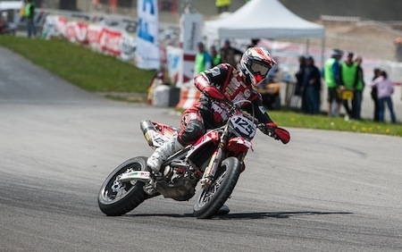"""Championnat de France 2012 de supermotard, interview d'Adrien Chareyre: """" je suis venu à Villars pour travailler..."""""""