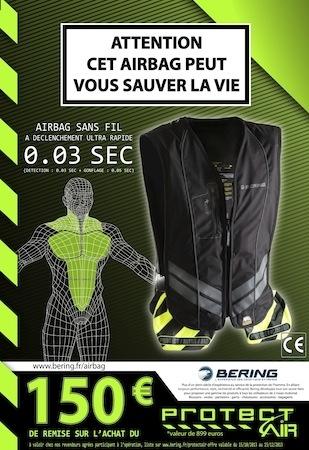 Bering: -150 euros sur l'achat d'un airbag Protect'Air