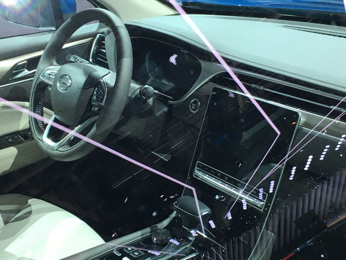 Difficle de juger de la qualité des matériaux ou de la présentation car la voiture était verouillée.