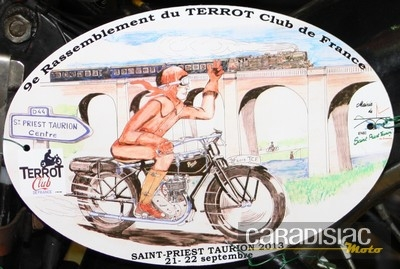 Terrot Club de France: le 9ème rassemblement à St Priest-Taurion (87).