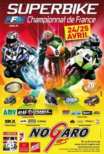 SBK France : 2ème épreuve à Nogaro, samedi 24 et dimanche 25 avril