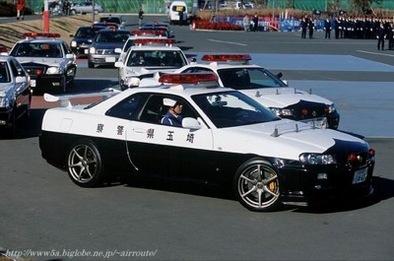 Les voitures des polices du monde