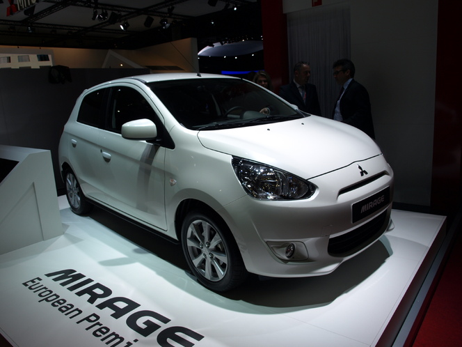 Vidéo en direct du Mondial de l'auto - Mitsubishi Mirage  : on rengaine les colts