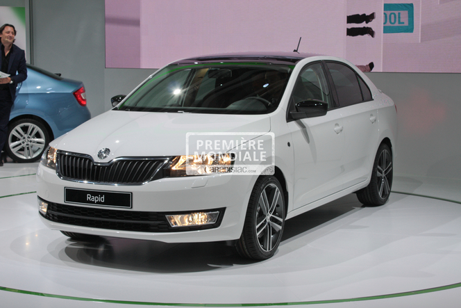 en direct du mondial 2012 skoda rapid. Black Bedroom Furniture Sets. Home Design Ideas