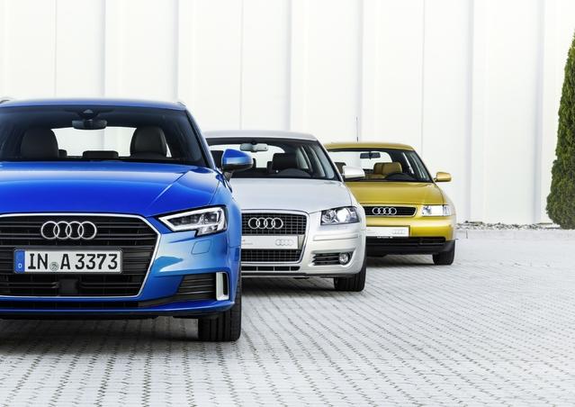L'Audi A3 franchit le cap des 4 millions d'exemplaires écoulés pour ses 20 ans