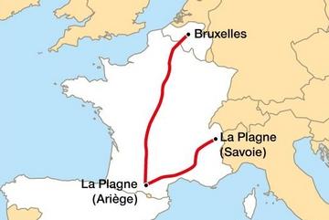 """GPS : se trompant de """"Plagne"""", un car de touristes belges fait un détour de 1.200 kilomètres"""