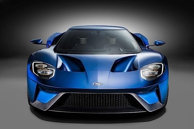 La même teinte sur la Ford GT.