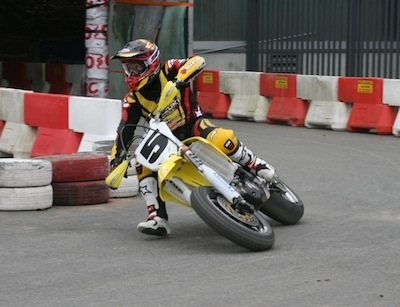 Supermotard Indoor de Tours 2011: Boris Chambon.