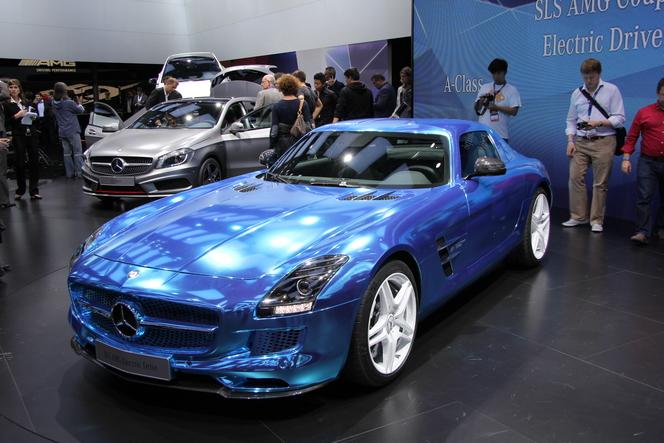 En direct du Mondial 2012 : Mercedes SLS Coupé Electric Drive : électrifiante