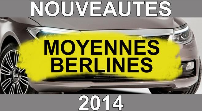 Calendrier des nouveautés 2014 - Moyennes berlines : arrivée attendue des électriques allemandes