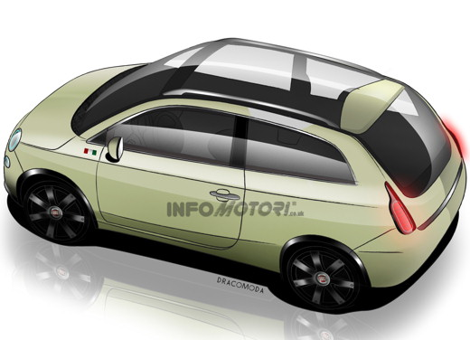 future fiat 500 sw by infomotori. Black Bedroom Furniture Sets. Home Design Ideas