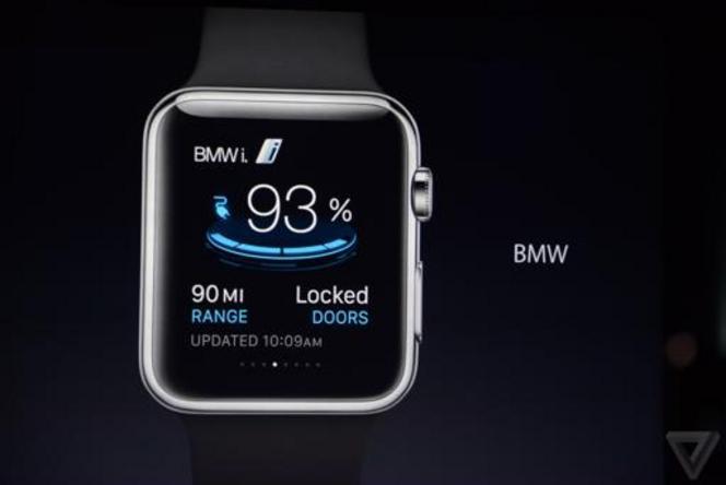 BMW a déjà développé des applications pour l'Apple Watch