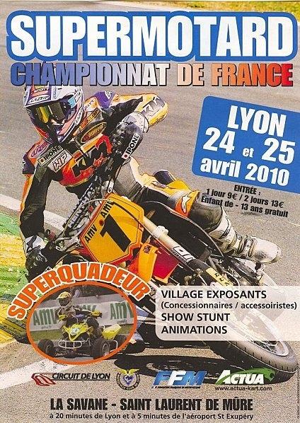 Championnat de France Supermotard à St Laurent de Mûre, le week-end prochain