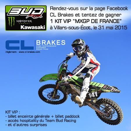 Jeu concours CL Brakes: votre place au GP de France de Motocross à Villars-sous-Ecot le 31 mai 2015