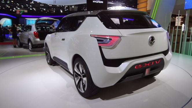 En direct du Mondial 2012 - Le concept e-XIV électrise Ssangyong !