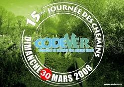 Calendrier Codever : 15e journée des chemins 2008