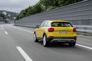 Audi n'a pas hésité à mettre en avant des couleurs pimpantes lors du lancement. Comme le Countryman, le Q2 joue la carte de la personnalisation.