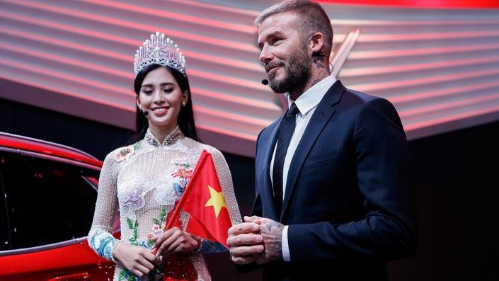 David Beckham dévoile les VinFast au Mondial de Paris