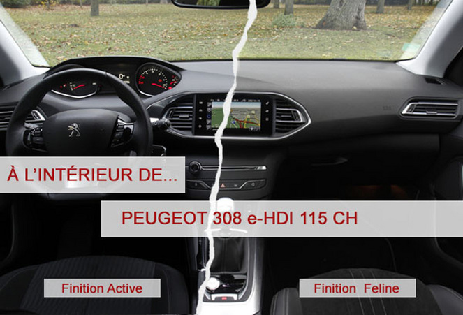 a l 39 int rieur de la peugeot 308 e hdi 115 ch. Black Bedroom Furniture Sets. Home Design Ideas