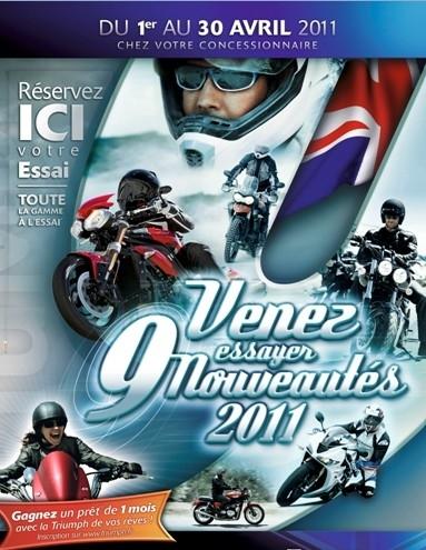 Triumph : ce que la marque propose pour 2011