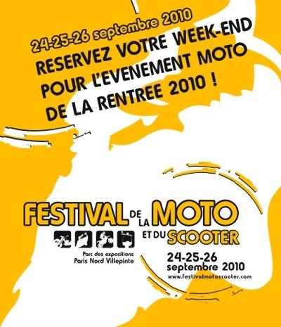 Festival de la Moto et du Scooter 2010 : 24,25 et 26 Septembre à Villepinte