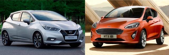 Match de 2017 - Nouvelle Nissan Micra vs nouvelle Ford Fiesta