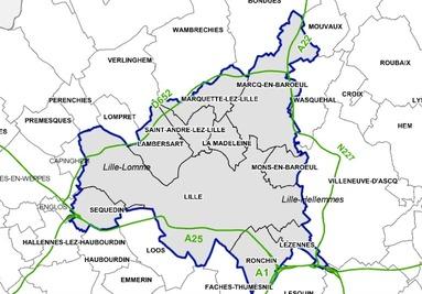 La zone où sera appliquée la circulation différenciée du côté de Lille.