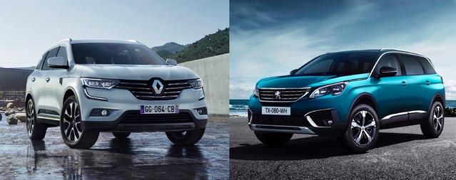 Match de 2017 - Renault Koleos vs Peugeot 5008