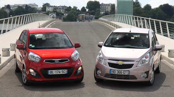 comparatif chevrolet spark kia picanto citadines d lur es. Black Bedroom Furniture Sets. Home Design Ideas