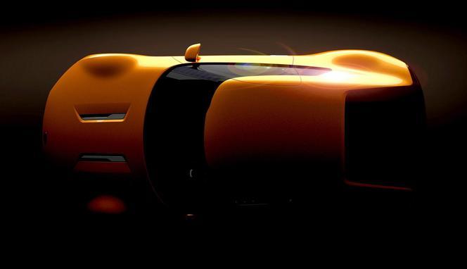 Détroit 2014 - Kia GT4 Stinger: vue du ciel