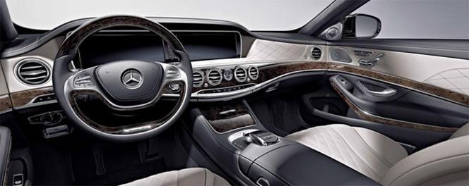 Détroit 2014 - La Mercedes S600 en fuite